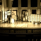 Set in place at St George's Hall.